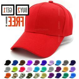 Plain Baseball Cap Solid Color Blank Army Hat Ball Men Women