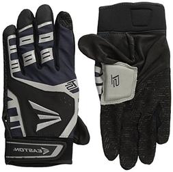 Easton HS Turboslot Gloves, Black/Grey, Small