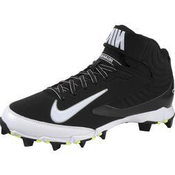 Men's Nike Huarache Keystone 3/4 Baseball Cleat Black/White