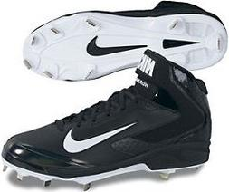 NIKE Mens Huarache Pro Mid Baseball Cleats - Size: 13, Black