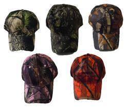 Hunting & Fishing Camouflage Baseball Cap Hat with Hardwood