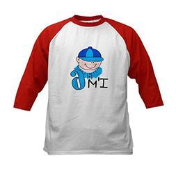 CafePress - I'm 6  Kids Baseball Jersey - Kids Cotton Baseba