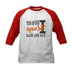 CafePress - I Wear Orange  Kids Baseball Jersey - Kids Cotto