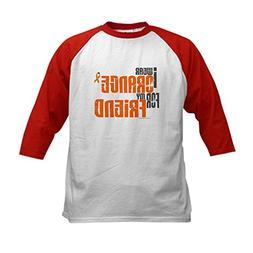 CafePress - I Wear Orange For My Friend 6 Kids Baseball Jers