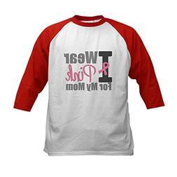 CafePress - I Wear Pink For My Mom Kids Baseball Jersey - Ki