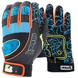 Franklin Adult Insanity Batting Gloves , Black/Electric blue
