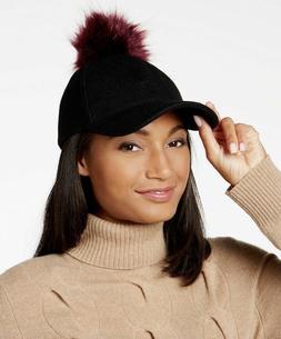 international concepts pom pom baseball cap hat