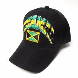Jamaica Hat Baseball Style Cap Black Adjustable Strap