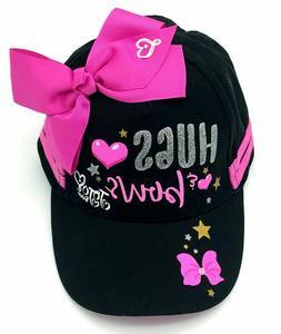 JoJo Siwa Hat Black Girls Baseball Cap Pink Bow