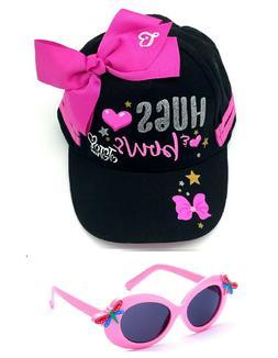 JoJo Siwa Hat Black Girls Baseball Cap Pink Bow and Sunglass