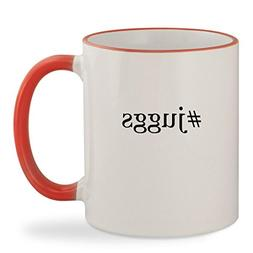 #juggs - 11oz Hashtag Colored Rim & Handle Sturdy Ceramic Co
