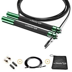 FitSkuad.com Jump Rope – Features Ball-bearing System and