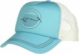 Roxy Juniors Truckin Trucker Hat Scuba Blue One Size