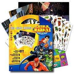 DC Comics Justice League Stickers Coloring Activity Set & Bo