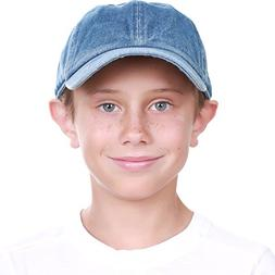 KBC-13LOW MDM  Kids Boys Girls Hats Washed Low Profile Cotto