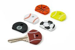 Cooltec - Sports Key Cap Covers and Identifiers Assortment -