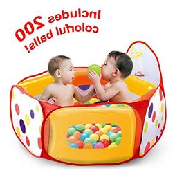 Kids Ball Pit Play Tent with 100 Colorful Crush-Free Pit Bal