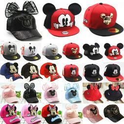 Kids Boys Girls Mickey Minnie Mouse Baseball Cap Snapback Sp