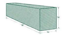 Jugs Sports No. 5 Batting Cage Net 381 Lb. - 36 G -