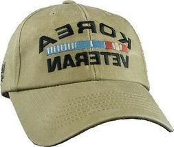 Korea Veteran Hat / Ribbon Khaki Baseball Cap