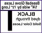 "2 laces ~ 1/4"" x 72"" ~ BLACK  AC ~ BASEBALL GLOVE ~ Repair L"