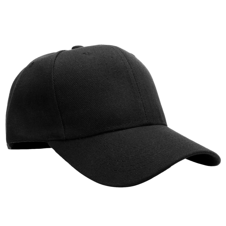 2-pack Classic Plain Baseball Cap Golf Size Solid