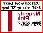 "4 laces ~ 3/16"" x 72"" ~ Magenta Pink AC ~ BASEBALL GLOVE ~ R"