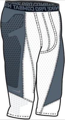 "Nike 503837 Pro Combat Hyperstrong 17"" Diamond Thief Slider"