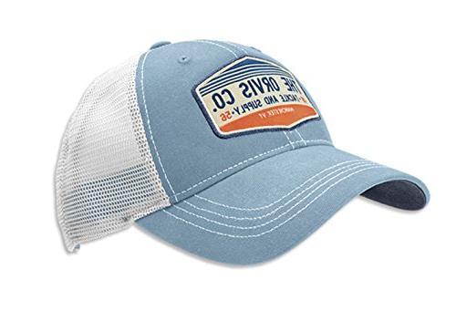 Orvis Men's Rocky River Trucker Cap, Light Blue