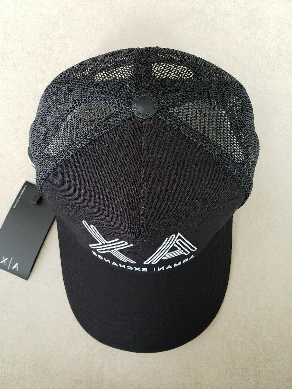 Armani A|X Men's Black Baseball Cap/Hat