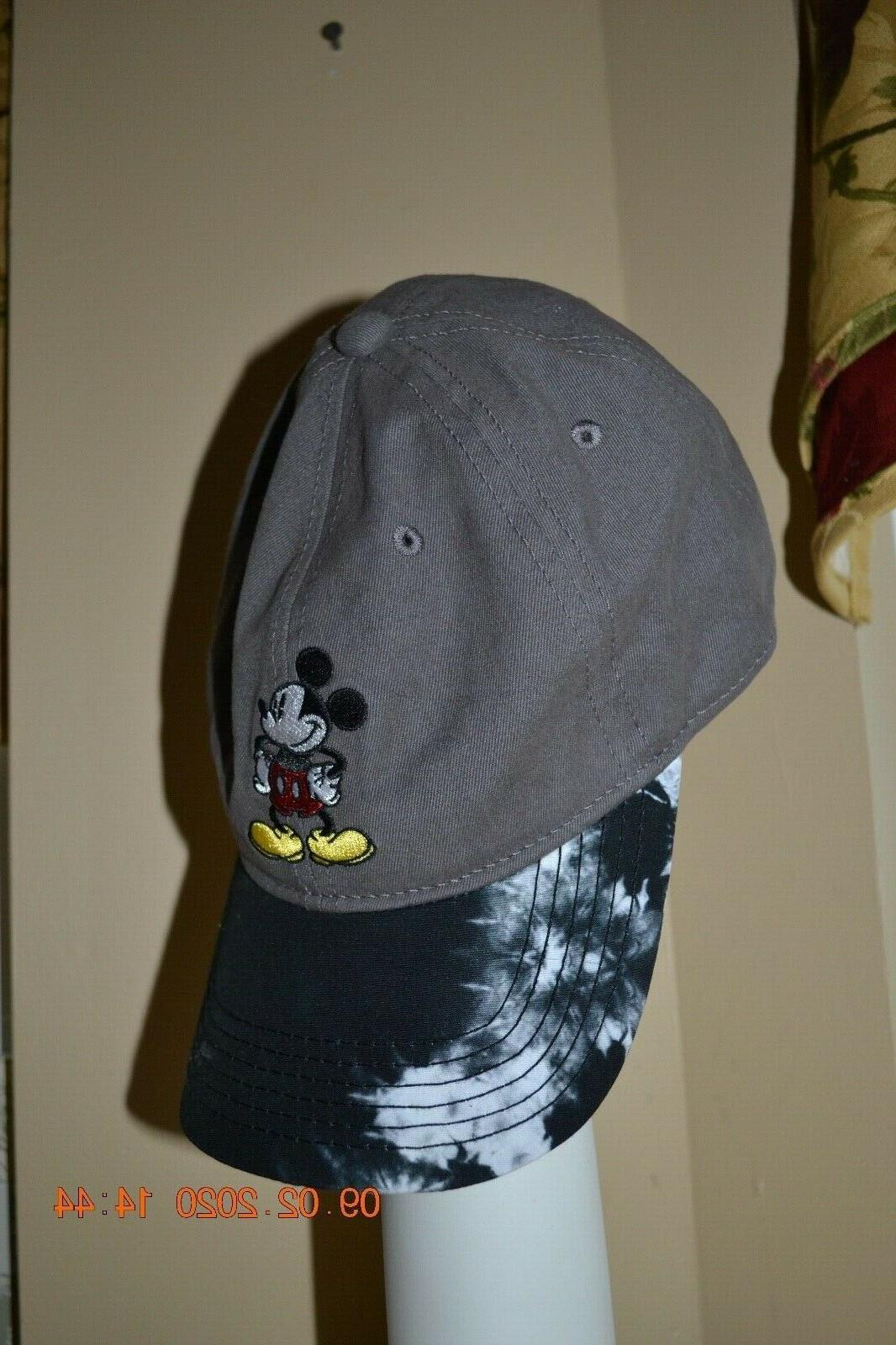 Disney Adult Womens Gray embroidered Mickey Baseball Cap Ball Hat