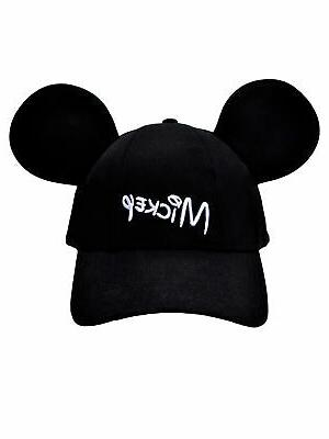 Adult Mickey Mouse Baseball with - Black