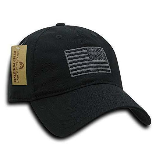 american flag embroidered washed cotton baseball cap
