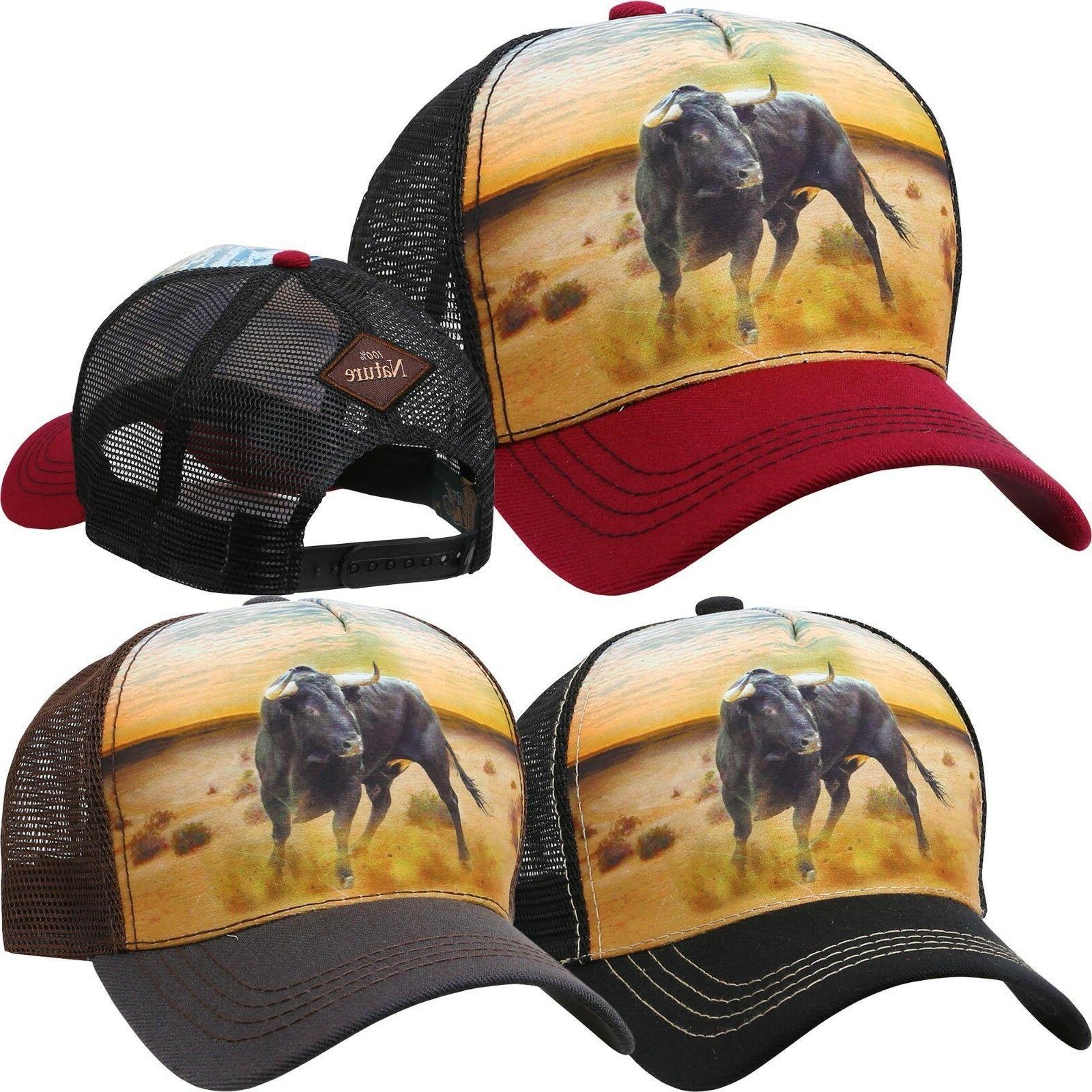 animal farm trucker hat bull baseball cap