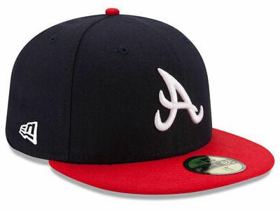 atlanta braves home 59fifty fitted hat dark