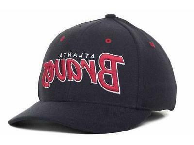 Atlanta Braves Men's Brand MLB Script Stretch Fit Cap