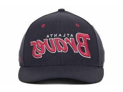 Atlanta Braves Men's Brand Script Stretch Fit Cap