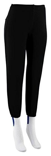 Augusta Sportswear Ladies Black Large Low Rise Softball Pant