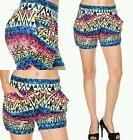Aztec Tribal Shorts with Pockets New Womens Size S M L XL Pr