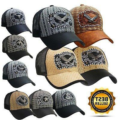 baseball animal trucker cap hat premium emblem