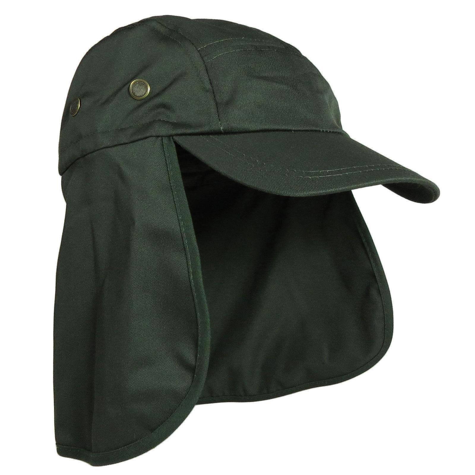 Baseball Cap Camping Fishing Neck Visor Army Hat