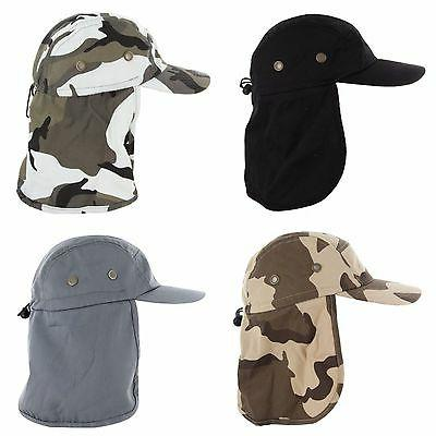 Baseball Cap Camping Fishing Flap Neck Cover Camo Army