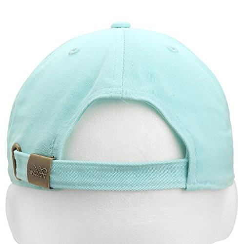 Falari Baseball Hat 100% Cotton Aqua