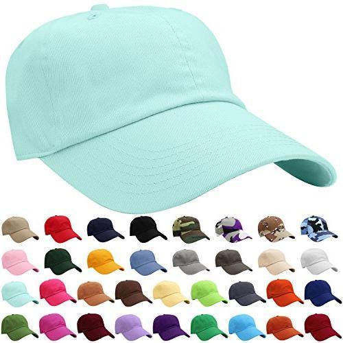 baseball cap hat 100 percent cotton adjustable