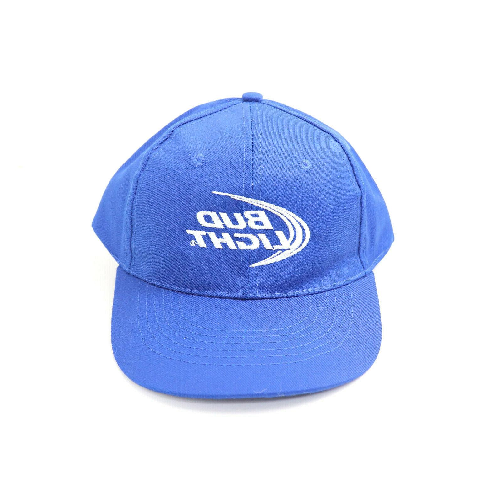 baseball cap hat embroidered blue adjustable strap