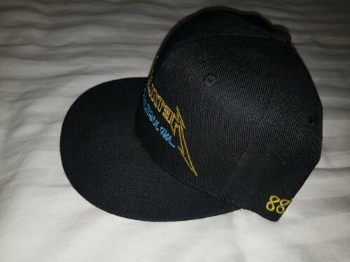 Metallica Baseball Cap Justice for Brim Official Black Snapback