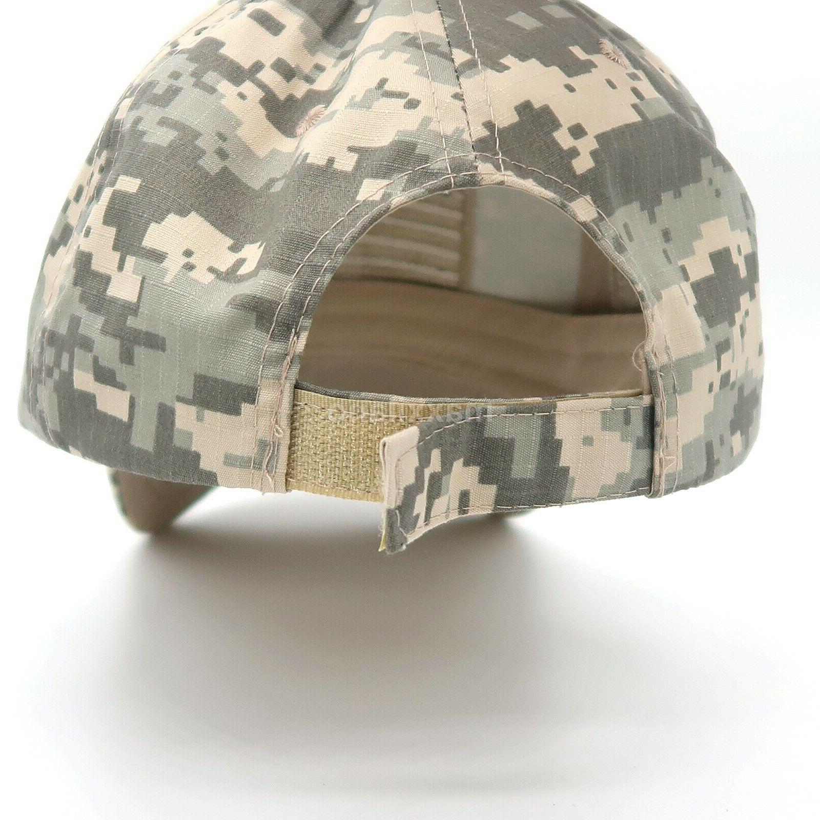Baseball Cap Mens Army Hat Flag Mesh