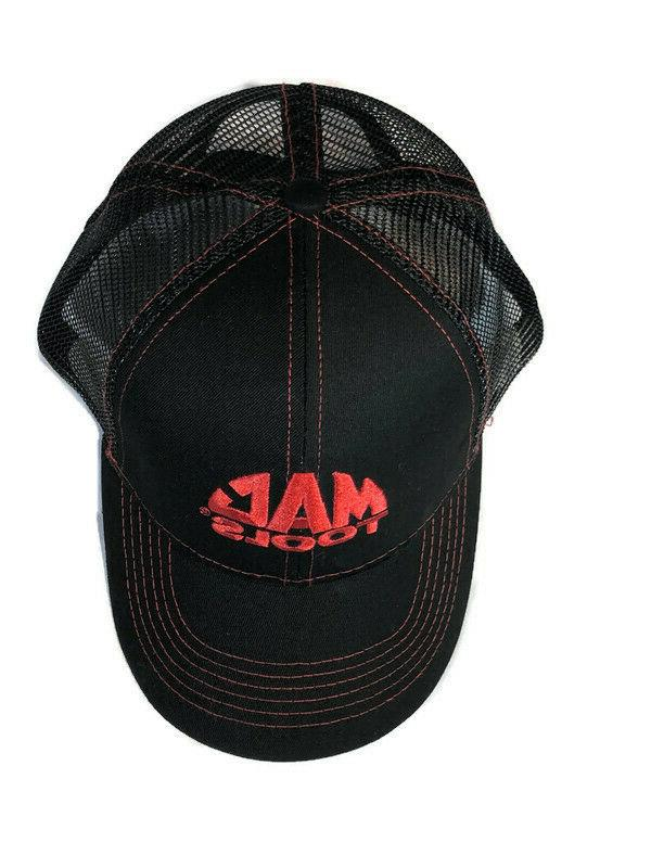 Mac Mesh Trucker Hat with Red Adjustable Strap