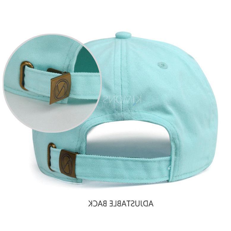Baseball Cap Cotton Solid Plain men Ball Hat Hat Washed Ball