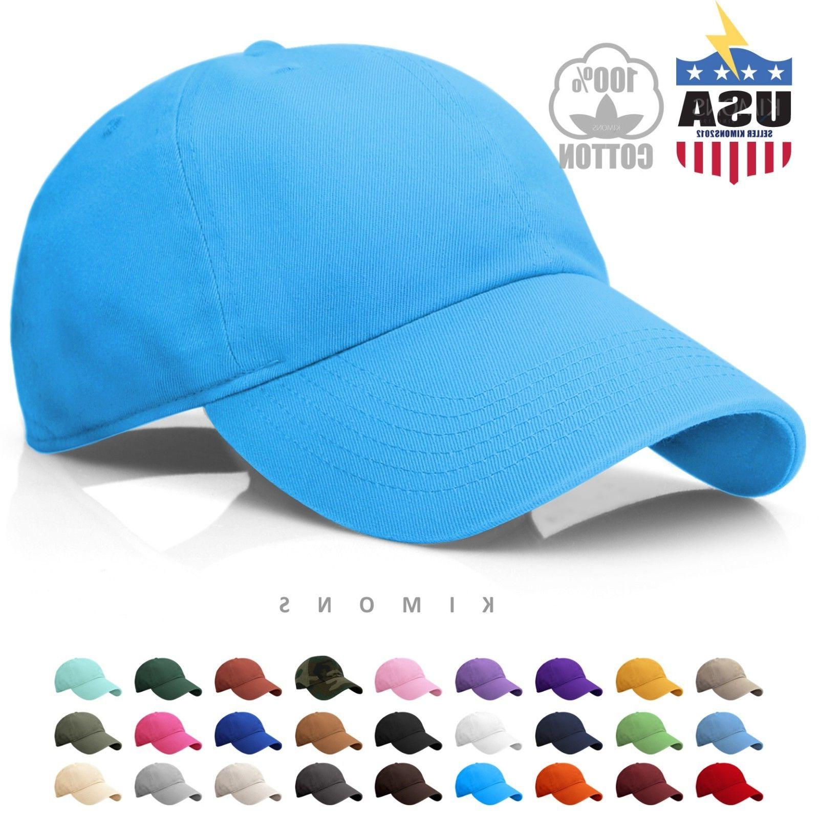Baseball Cap Solid Plain men Ball Hat Washed